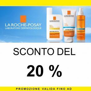 Sconto del 20% su Linea La Roche-Posay