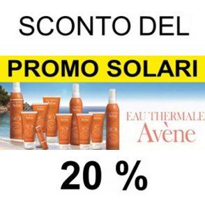 Sconto del 20% su Linea Solari Avène
