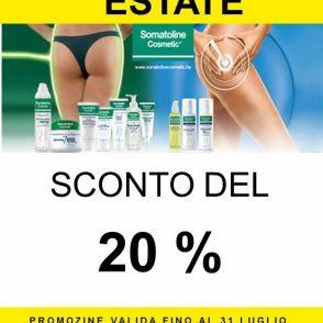 Sconto del 20% sulla Linea Somatoline Cosmetics
